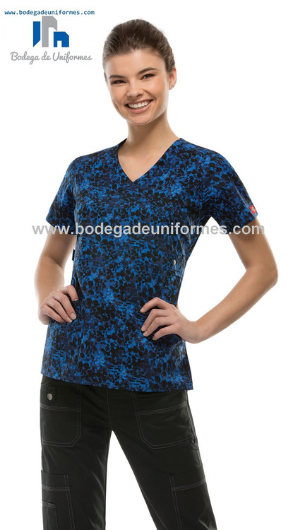 Dickies Medical 82724 STPL Filipina Estampada Cuello V