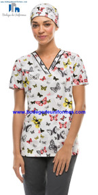 Dickies Medical 84724V Filipina Estampada Cuello V Para Mujer