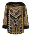 Balmain For H&M Beaded Velvet Blouse - Black #24-3476