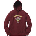 Supreme Centerpiece Hooded Sweatshirt - Burgundy