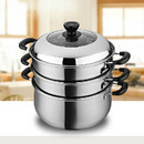 Charms Stainless-Steel Steamer 3-Layers 2-Trays |30CK04| 30cm