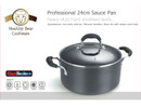 Healthy Bear hard anodized Casserole Pot  BCHA24CPG  24cm with Glass Lid