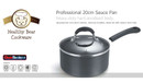 Healthy Bear hard anodized Sauce Pan  BCHA20SPG  20cm with Glass Lid