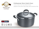 Healthy Bear hard anodized Dutch Oven |BCHA26DOG|24cm with Glass Lid