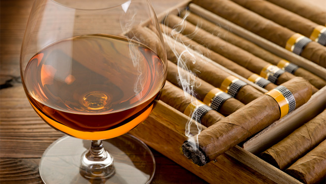 Fine Cigar with Cognac in New Hampshire
