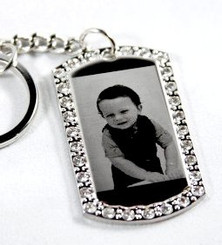 Photo Engraved Cubic Dog Tag