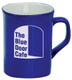 Personalized and Laser Engraved Ceramic Coffee Mug - Blue