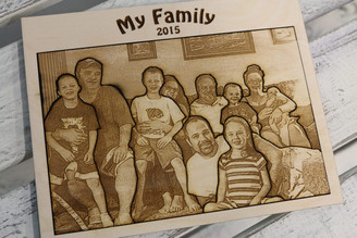 Photo Engraved Wood Board Puzzle
