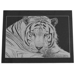 Photo Engraved Rectangle Marble Tile