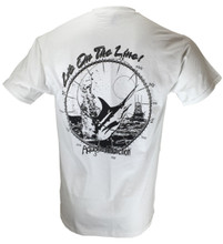 AQUATIC ADDICTION FISHING TEXT LOGO - SHORT SLEEVE - BACK