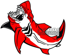 Aquatic Addiction GREAT WHITE scuba dive decal sticker