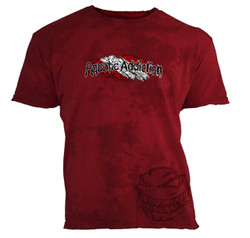 Shirt color RED with skull.