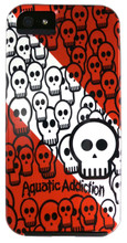 Aquatic Addiction Skullified (Red) Tough Iphone 5 Case