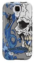 Surfer Half Skull (gray) for Samsung Galaxy S3, S4, S5, Note 2 Cases