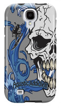 Aquatic Addiction Surfer Half Skull (gray) for Samsung Galaxy S3, S4, S5, Note 2 Cases