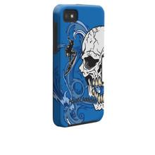 BlackBerry Z10 Tough Surf Half Skull (blue) Case