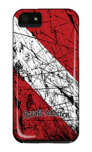 Distressed Dive Flag iPhone Cases
