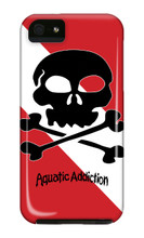 Aquatic Addiction Dive Skull iPhone Cases