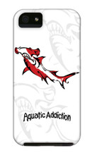 Dive Tribal Hammerhead (White) iPhone Cases