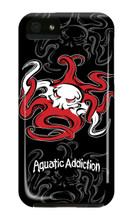 Dive Tribal Octo (Black) iPhone Cases