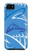 Aquatic Addiction Fishing Logo (blue) iPhone Cases