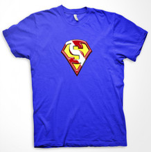 SUPER SCUBA MAN DIVE SHIRT - ROYAL