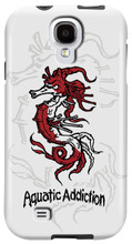 Aquatic Addiction Tribal Seahorse (white) for Samsung Galaxy S3, S4, S5, Note 2 Cases