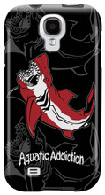 Great White Shark (black) for Samsung Galaxy S3, S4, S5, Note 2 Cases