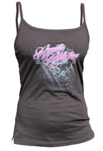 Ladies NEON BUBBLES tank top - front - black