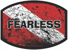 Aquatic Addiction Fearless Scuba Dive Decal Sticker