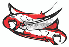 DIVER DOWN MANTA RAYS DECAL