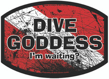 Aquatic Addiction Goddess Scuba Dive Decal Sticker