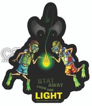 Aquatic Addiction Spooky Glow Scuba Dive Decal Sticker