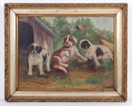 Folk Painting of Puppies 1890