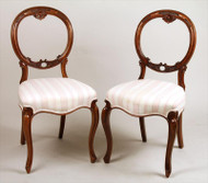 Pair of Victorian Carved Parlor Chairs - Priced Each