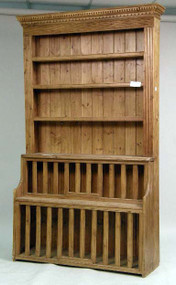 Antique Pine Cupboard with Chicken Cage