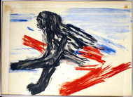 "Polychrome Lithograph, ""Wounded Sphinx"" Trial Proof by Leon Golub"
