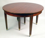 Extension Dining Table with Fine Narrow  Band of Inlay