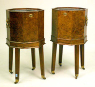 Regency Style Burlwood Wine Coolers - Sold as a pair