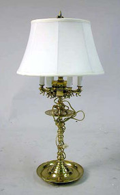 Flemish Style Cast Brass Lamp