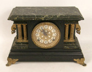 Classic Metal and Wood Mantle Clock