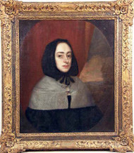 Carved Gilt Framed Oil On Canvas Depicting Elizabeth Cromwell