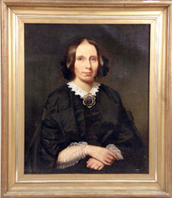Gilt framed Oil on Canvas of  Woman in Black