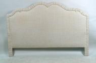Avery Boardman Beige and Off-White Gingham Headboard