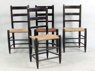 Four Federal Period Rush Seat Fancy Chairs 19th Century.