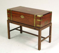 English Regency Period Mahogany Inlaid Box on Stand