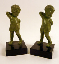 Boy with Suspender Bookends - Sold as Pair
