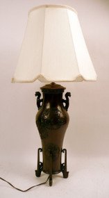 Bronze Chinese Urn Fitted as Lamp