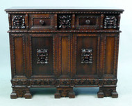 Baroque Style Walnut Side Cabinet