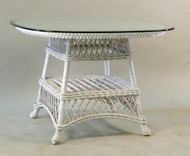 Wicker Center Table with Glass Top